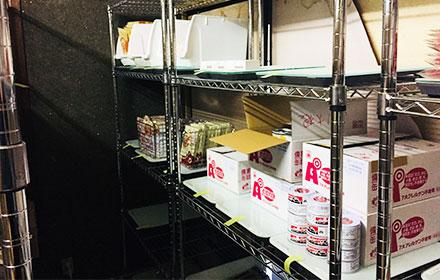 店舗資材も食材も同じシステムで管理