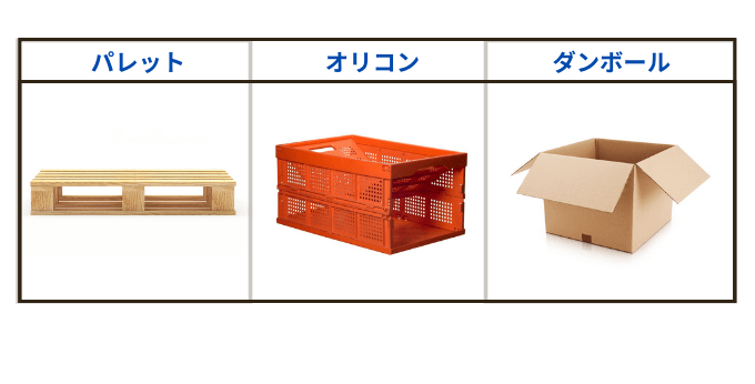 保管資材の種類